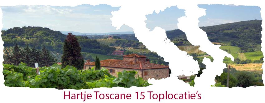 Hartje Toscane 15 top locatie's
