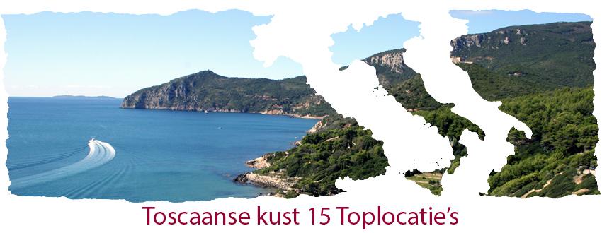 Toscaanse kust 15 top locatie's
