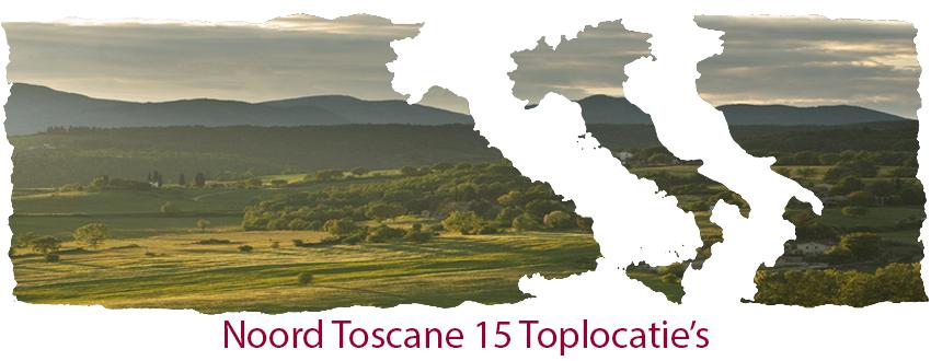 Noord Tosacne 15 top locatie's