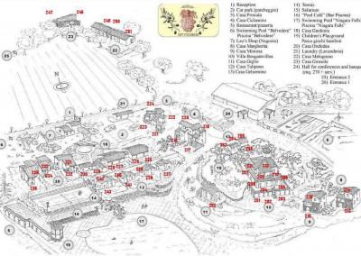 Borgo san Pecoraio plattegrond /map